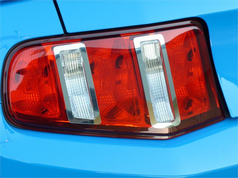 Rear Tail Light Trim Bezel Set Fits 2010 2012 Ford Mustang