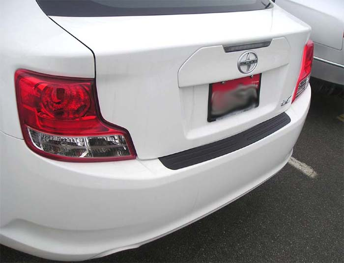 rear bumper protector fits 2005 2016 scion tc. Black Bedroom Furniture Sets. Home Design Ideas