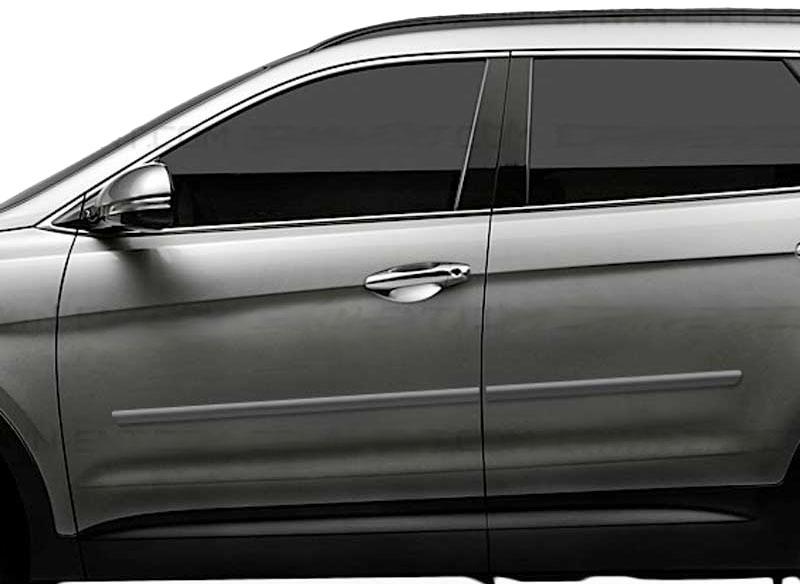 Body Side Molding Fits 2013 2017 Hyundai Santa Fe