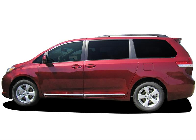 Lower Chrome Molding Fits 2011 2017 Toyota Sienna