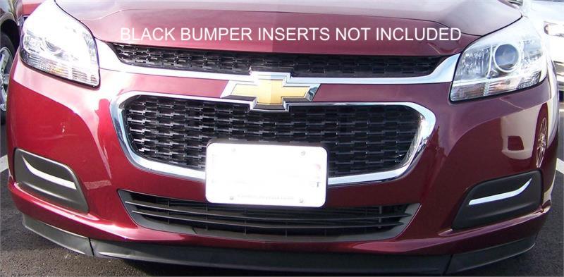Fog Light Insert Chrome Trim Fits 2013 2015 Chevrolet Malibu