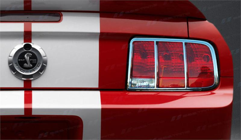 2005 2009 Ford Mustang Chrome Tail Light Bezel Set