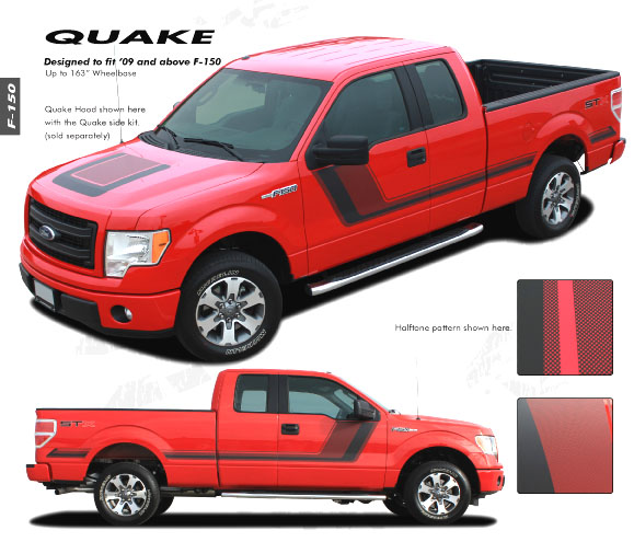 Quot 150 Center Stripe Quot Graphics Kit 2009 2014 Ford F 150