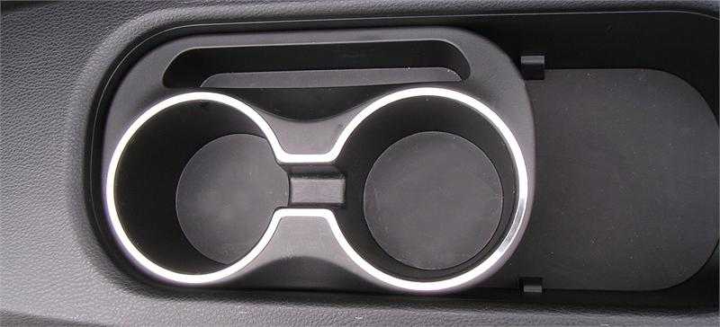 Center Console Cup Holder Brushed Satin Trim Ring Fits 2013 Toyota