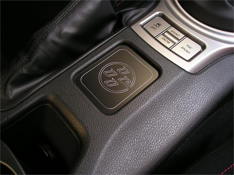 Center Console Logo Plaque Fits Gt86 Scion Fr S Black