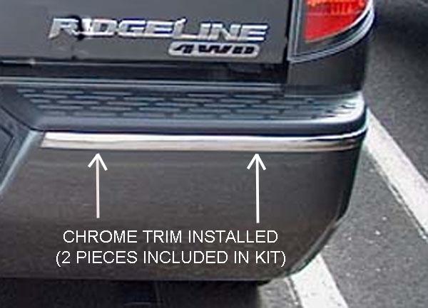Rear Bumper Chrome Trim Molding Accent Strips Fit 2006