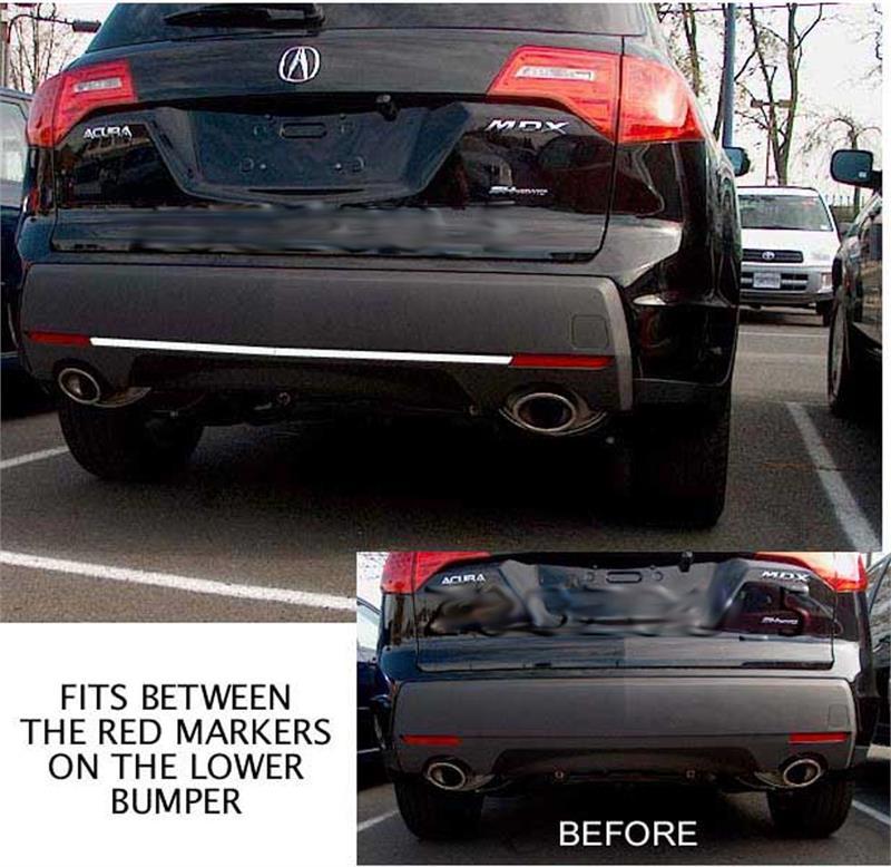 Rear Bumper Molding Trim Chrome Accnent Fits 2007 2009